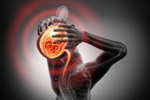 udar mózgu i silny ból głowy